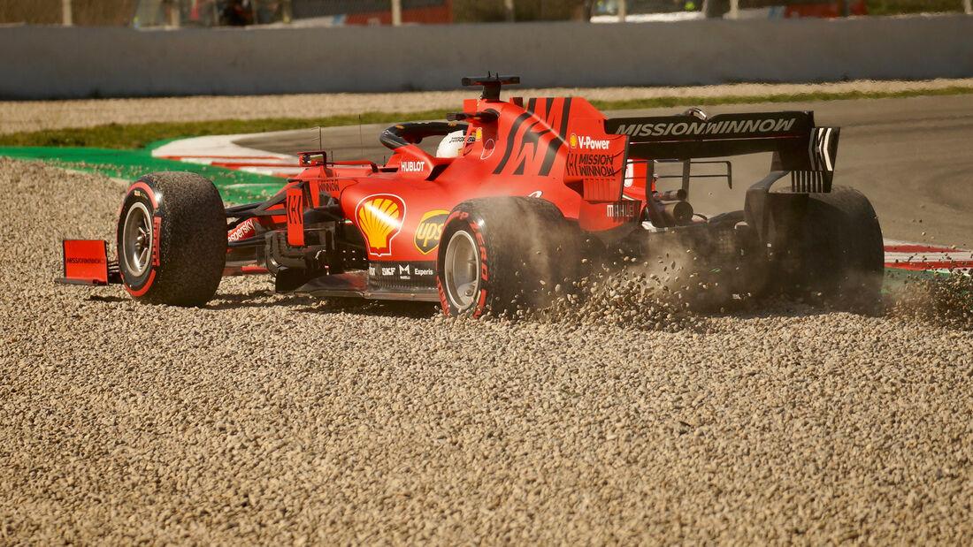 Sebastian Vettel - Ferrari - F1-Test - Barcelona - 27. Februar 2020