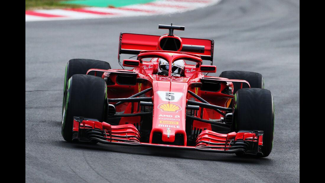 Sebastian Vettel - Ferrari - F1-Test - Barcelona - Tag 2 - 27. Februar 2018