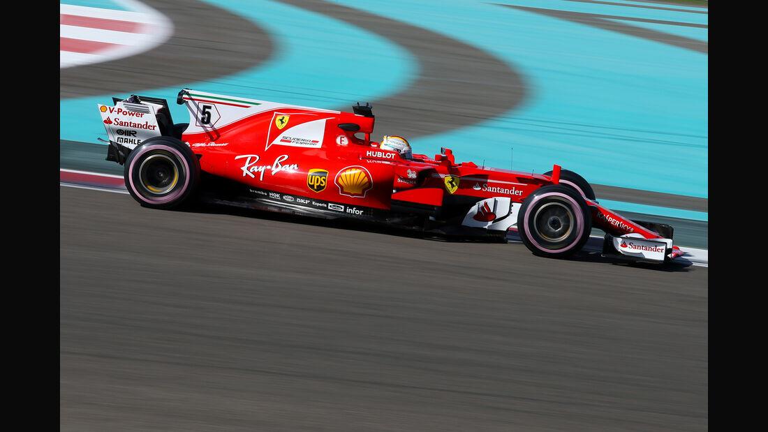 Sebastian Vettel - Ferrari - Formel 1 - Abu Dhabi - Test 2 - 29. November 2017