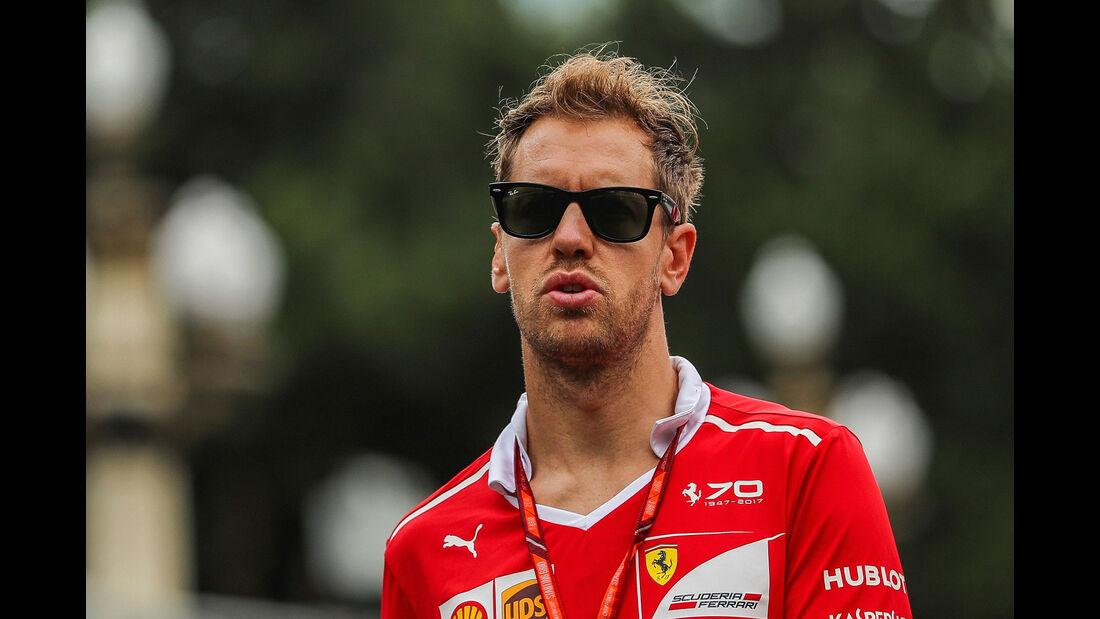 Sebastian Vettel - Ferrari - Formel 1 - GP Aserbaidschan 2017 - Baku - Donnerstag - 22.6.2017