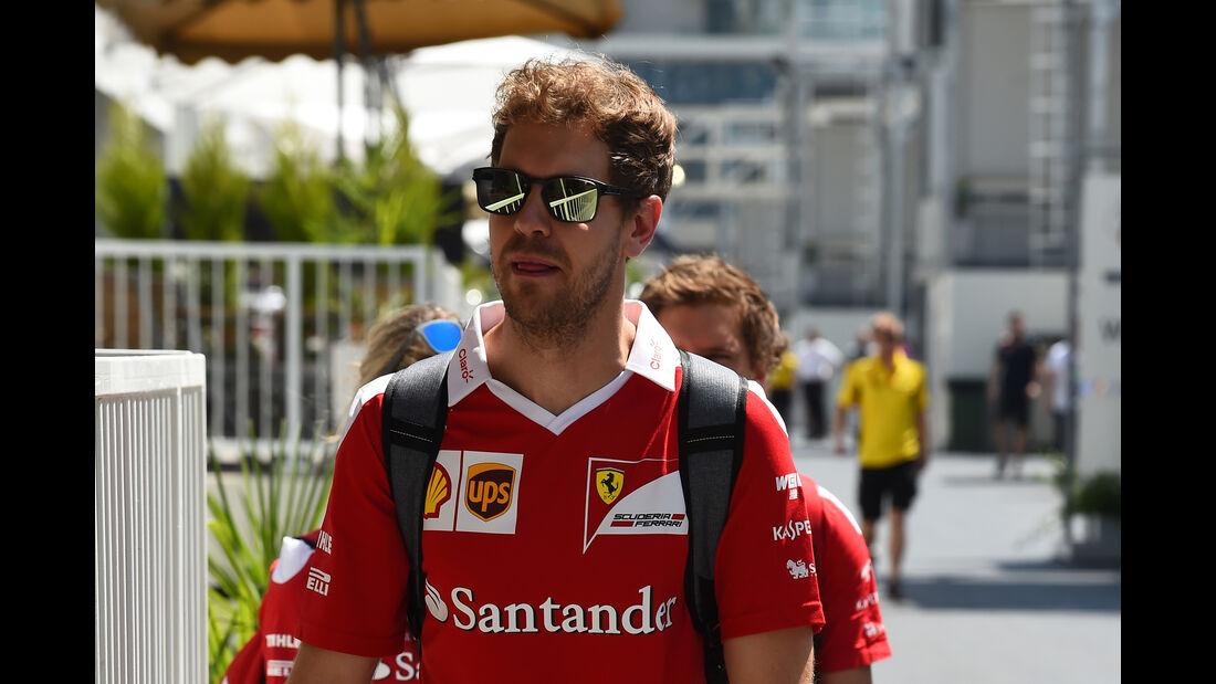 Sebastian Vettel - Ferrari - Formel 1 - GP Aserbaidschan - Baku - 16. Juni 2016