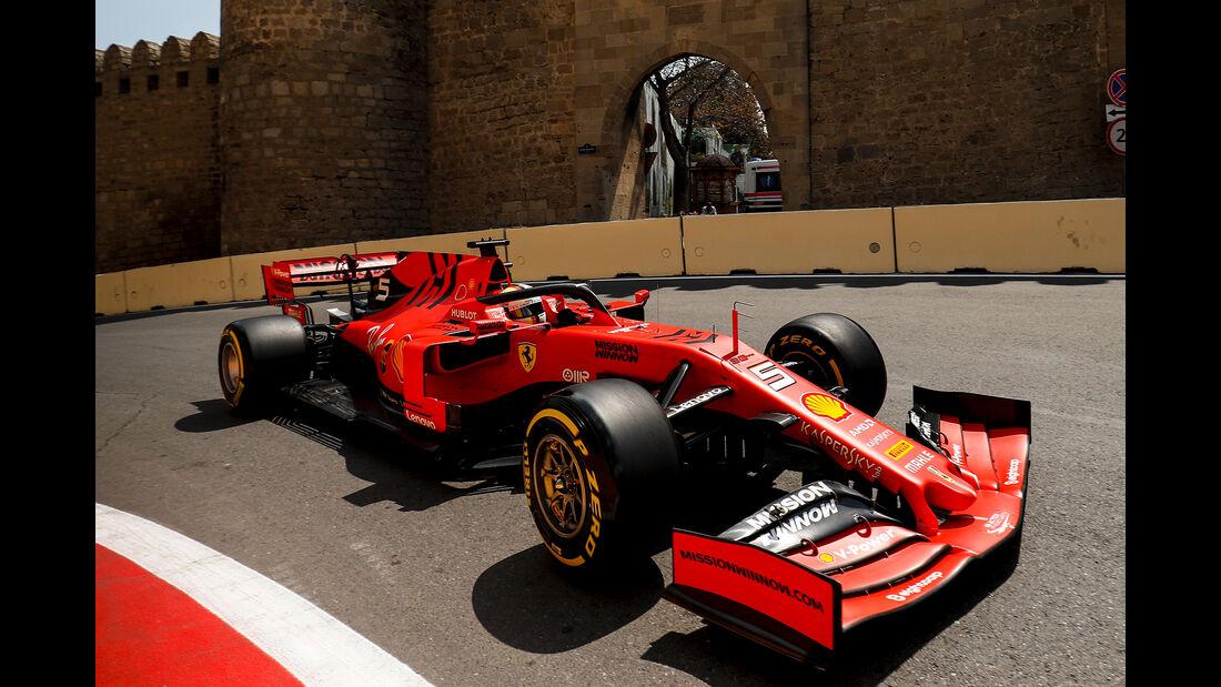 Sebastian Vettel - Ferrari - Formel 1 - GP Aserbaidschan - Baku - 26. April 2019