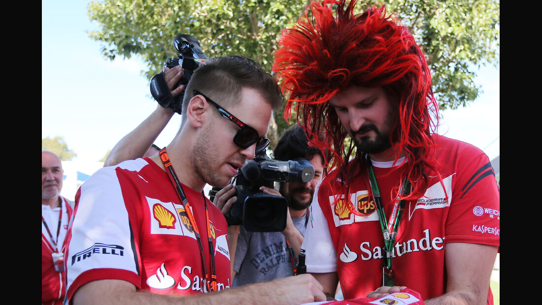 Sebastian Vettel - Ferrari - Formel 1 - GP Australien - Melbourne - 11. März 2015