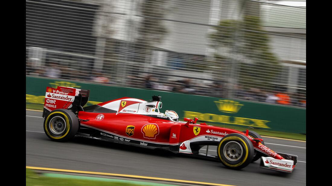 Sebastian Vettel - Ferrari - Formel 1 - GP Australien - Melbourne - 19. März 2016