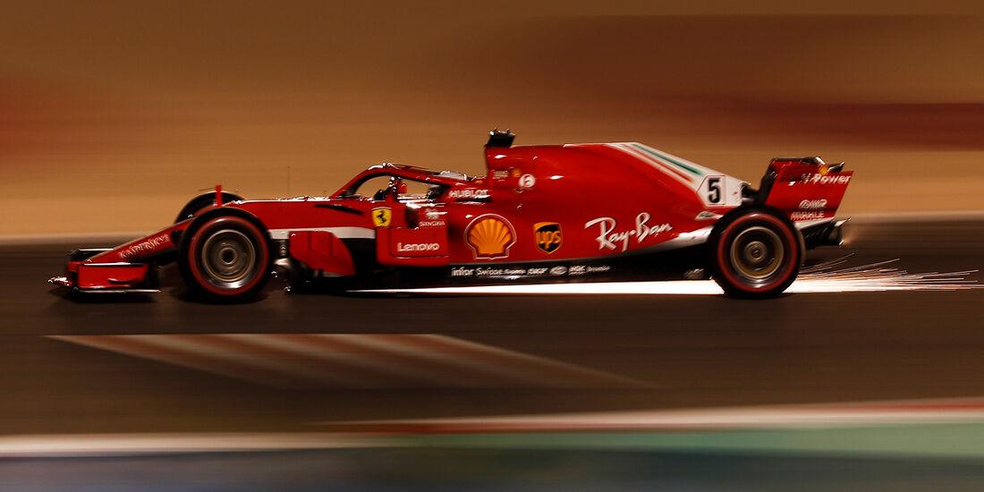 Sebastian Vettel - Ferrari - Formel 1 - GP Bahrain - 7. April 2018