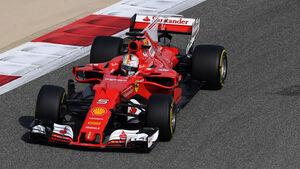 Sebastian Vettel - Ferrari - Formel 1 - GP Bahrain - Sakhir - Training - Freitag - 14.4.2017