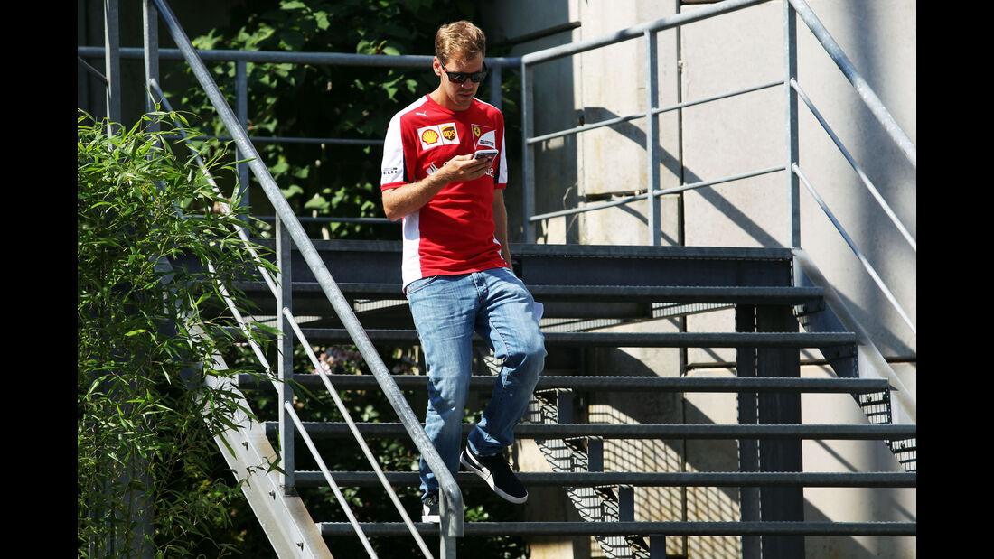 Sebastian Vettel - Ferrari - Formel 1 - GP Belgien - Spa-Francorchamps - 20. August 2015