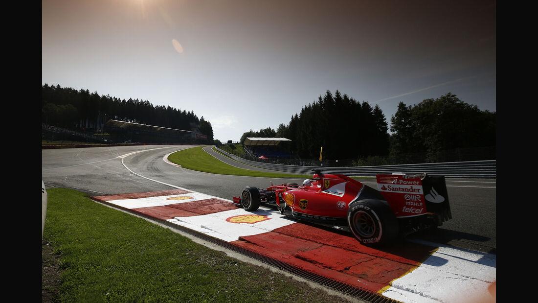 Sebastian Vettel - Ferrari - Formel 1 - GP Belgien - Spa-Francorchamps - 21. August 2015