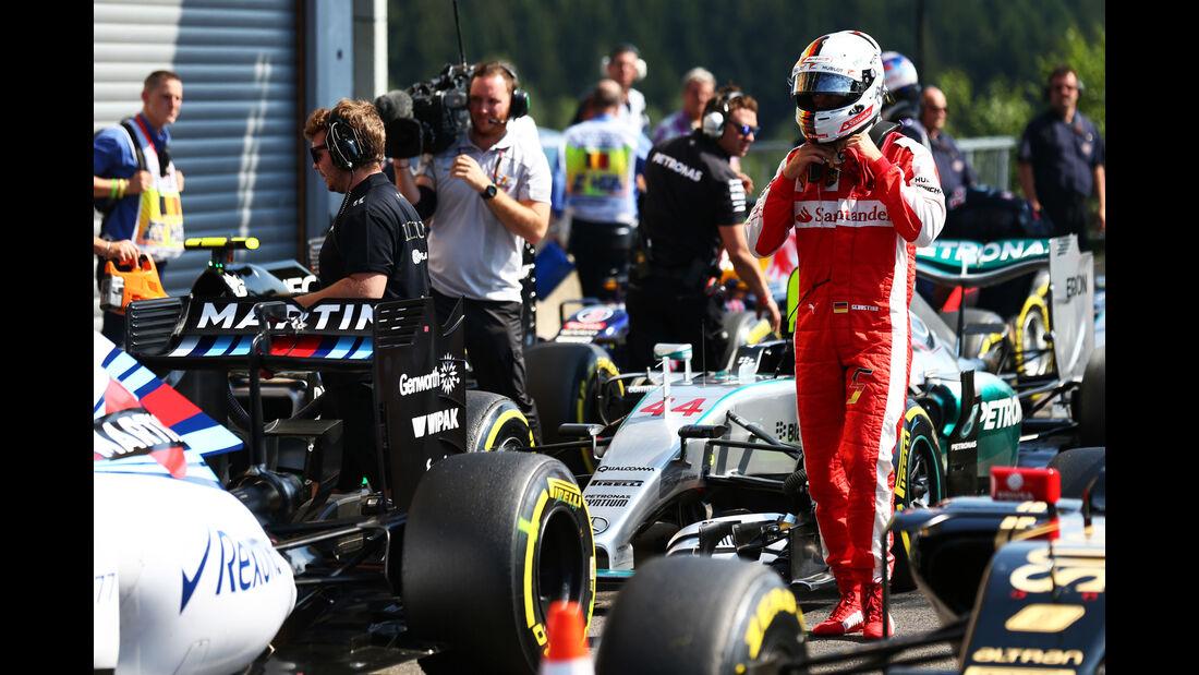 Sebastian Vettel - Ferrari - Formel 1 - GP Belgien - Spa-Francorchamps - 22. August 2015
