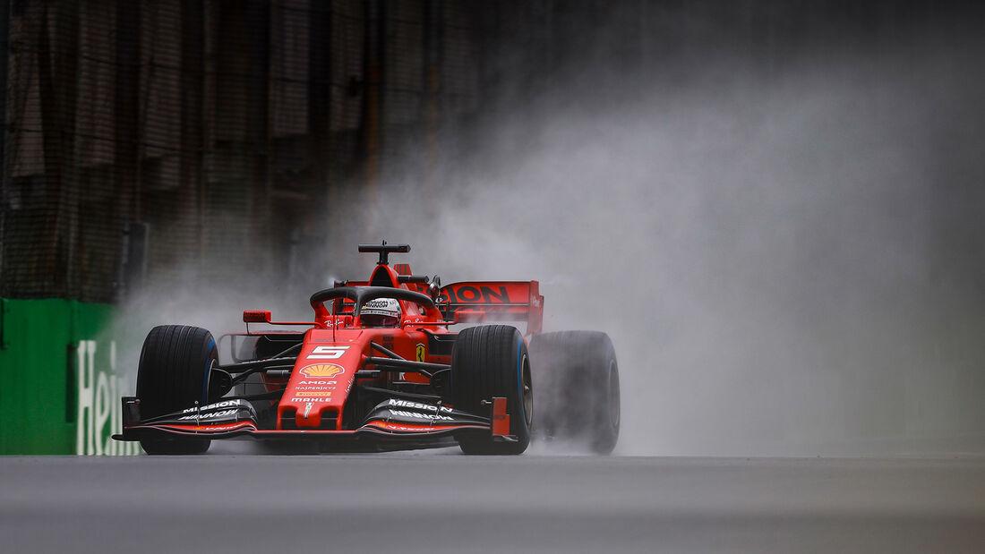 Sebastian Vettel - Ferrari - Formel 1 - GP Brasilien - Sao Paulo - 15. November 2019