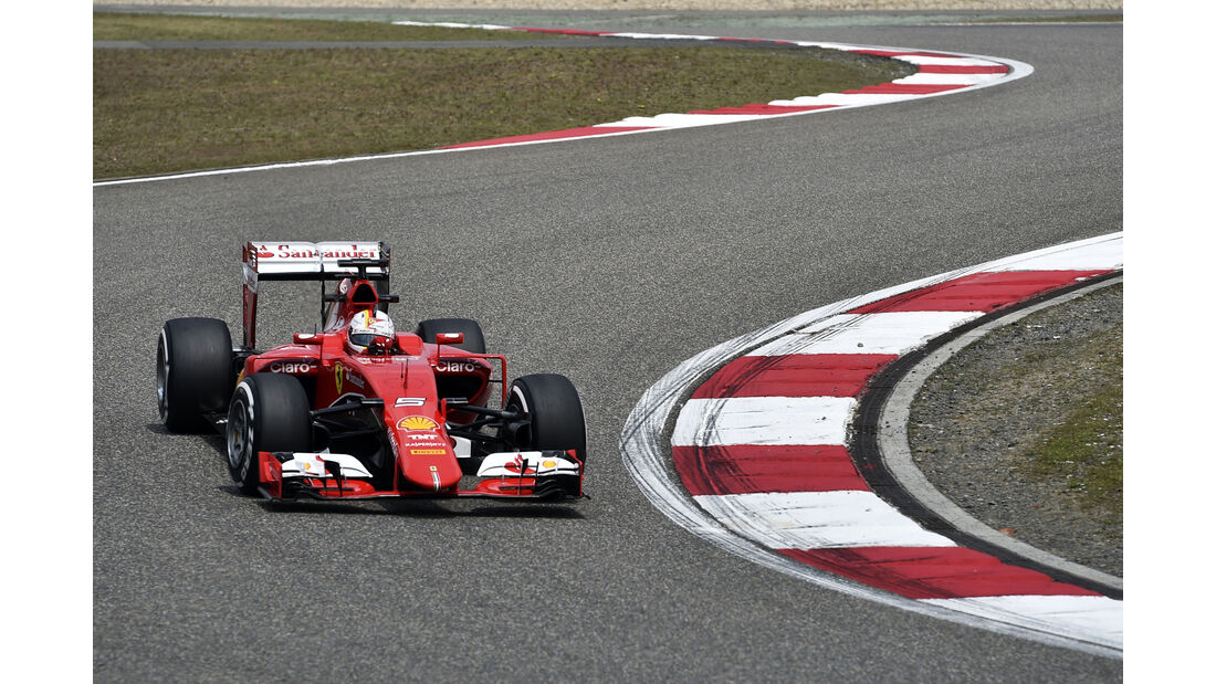 Sebastian Vettel - Ferrari - Formel 1 - GP China - Shanghai - 10. April 2015
