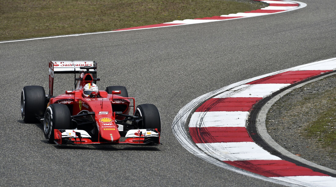 Sebastian Vettel - Ferrari - Formel 1 - GP China - Shanghai - 10. April 2015