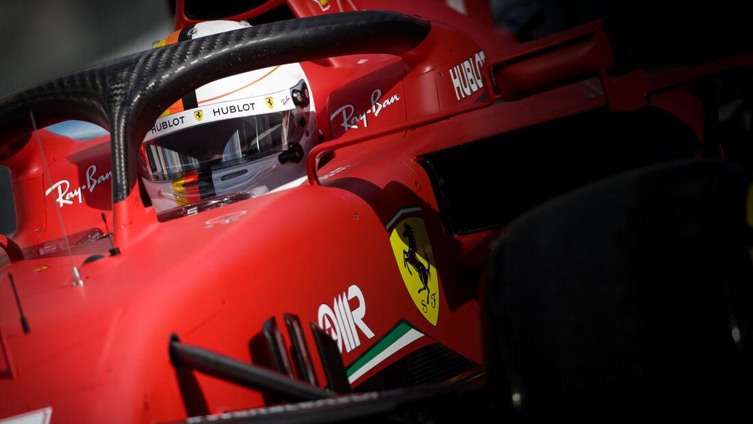 Sebastian Vettel - Ferrari - Formel 1 - GP Eifel - Nürburgring - Samstag - 10.10.2020