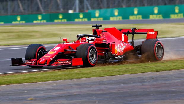 Sebastian Vettel - Ferrari - Formel 1 - GP England - Silverstone - 1. August 2020