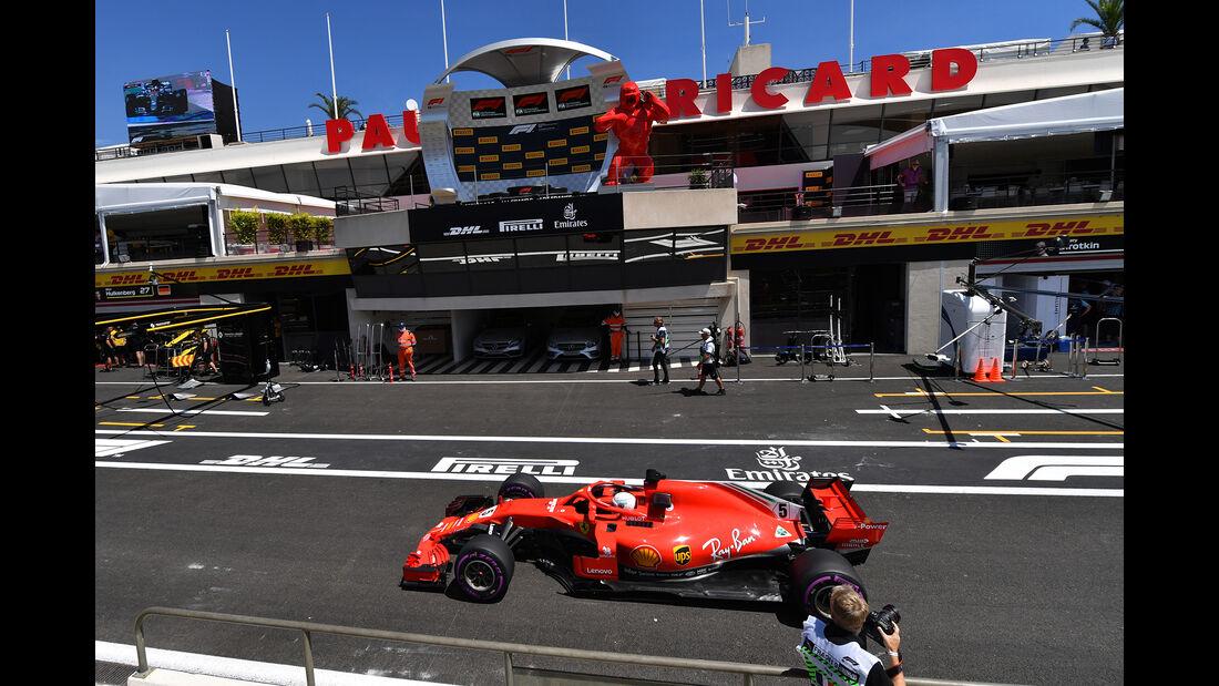 Sebastian Vettel - Ferrari - Formel 1 - GP Frankreich - Circuit Paul Ricard - 22. Juni 2018