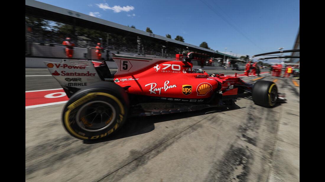 Sebastian Vettel - Ferrari - Formel 1 - GP Italien - Monza - 1. September 2017