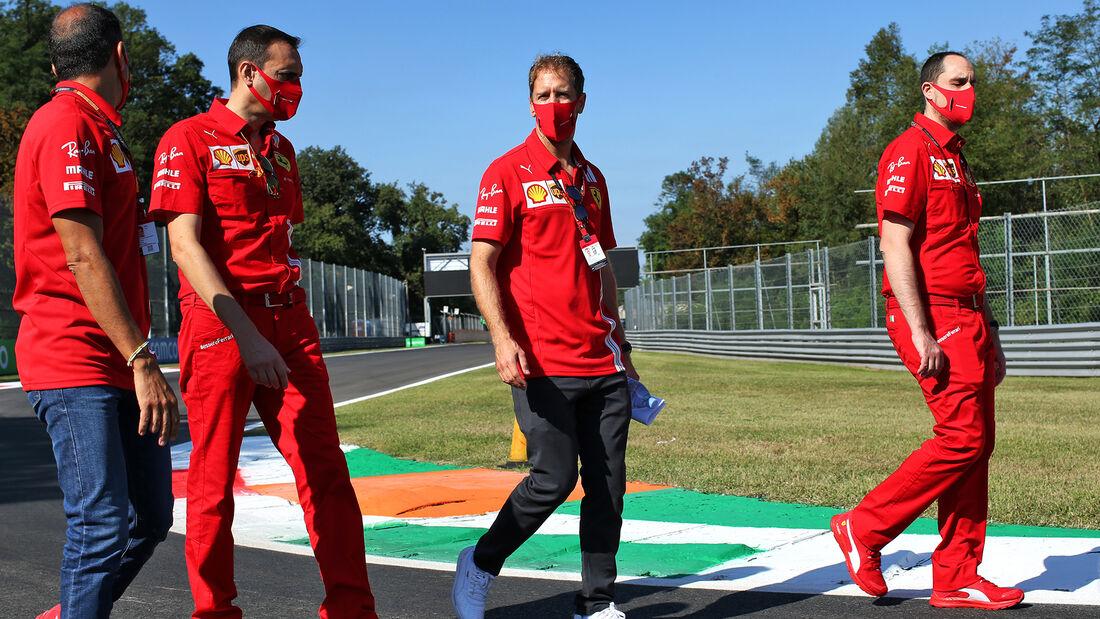 Sebastian Vettel - Ferrari - Formel 1 - GP Italien - Monza - Donnerstag - 3. September 2020