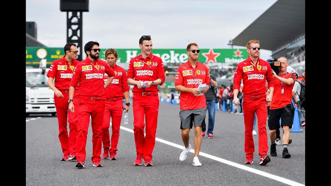 Sebastian Vettel - Ferrari - Formel 1 - GP Japan - Suzuka - 10. Oktober 2019