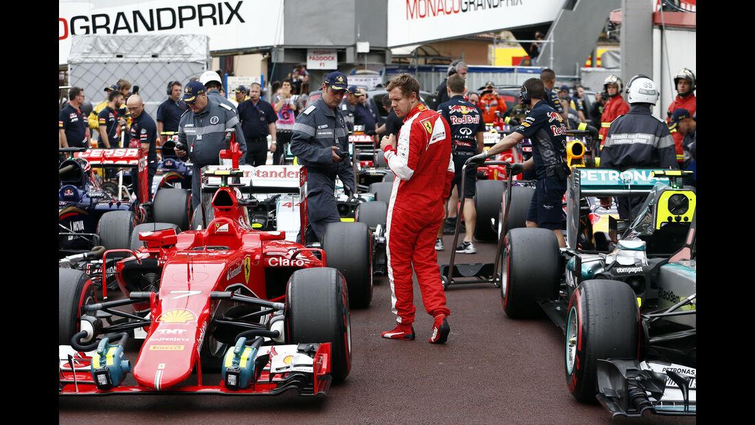 Sebastian Vettel - Ferrari - Formel 1 - GP Monaco - Samstag- 23. Mai 2015