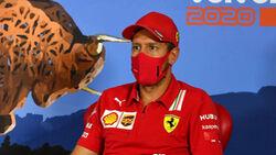 Sebastian Vettel -  Ferrari - Formel 1 - GP Österreich - Spielberg - 2. Juli 2020