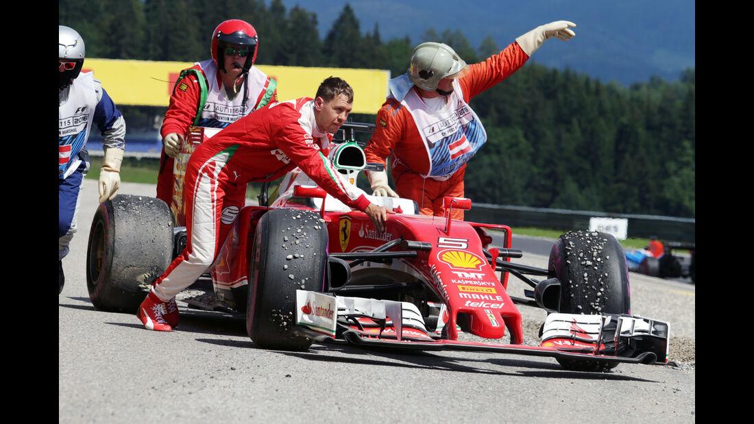 Sebastian Vettel - Ferrari - Formel 1 - GP Österreich - Spielberg - 30. Juni 2016