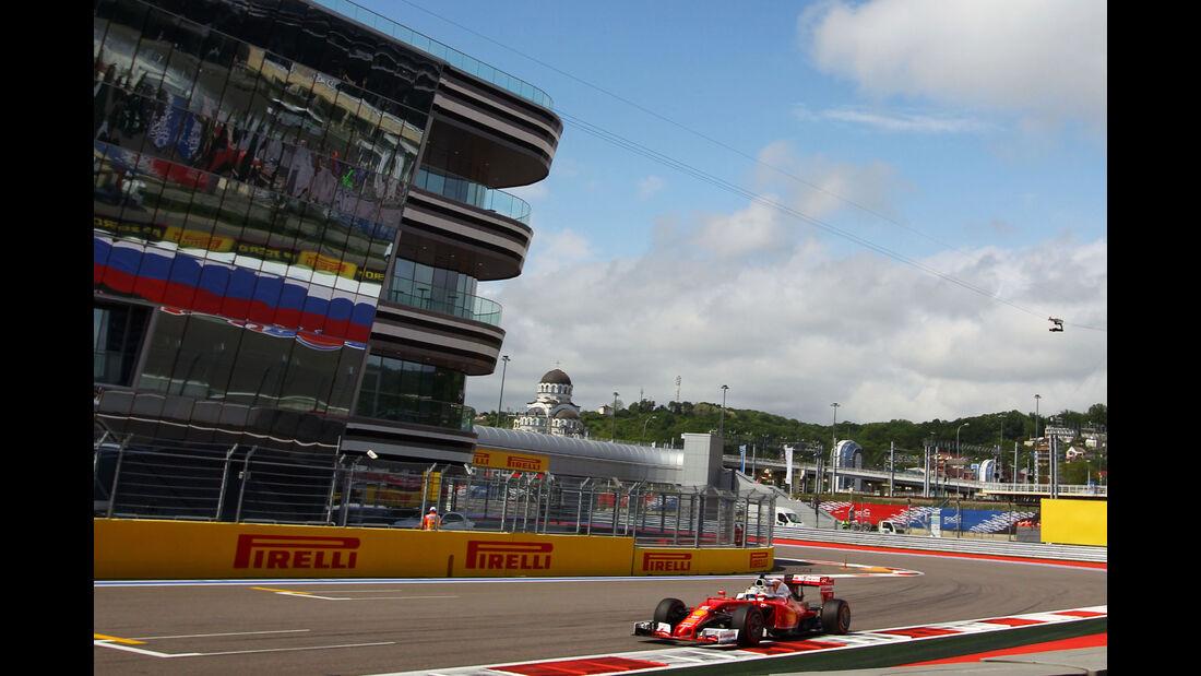 Sebastian Vettel - Ferrari  - Formel 1 - GP Russland - 29. April 2016