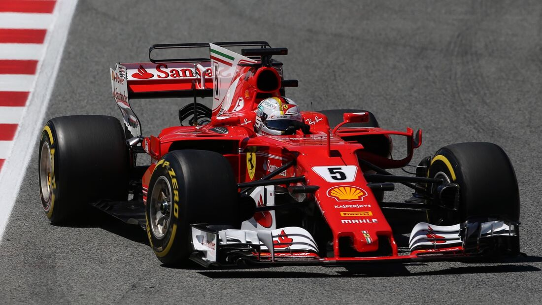 Sebastian Vettel - Ferrari - Formel 1 - GP Spanien - 13. Mai 2017