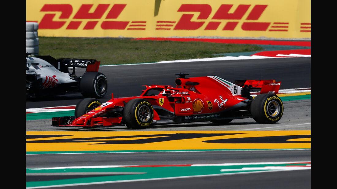 Sebastian Vettel - Ferrari - Formel 1 - GP Spanien - Barcelona - 11. Mai 2018