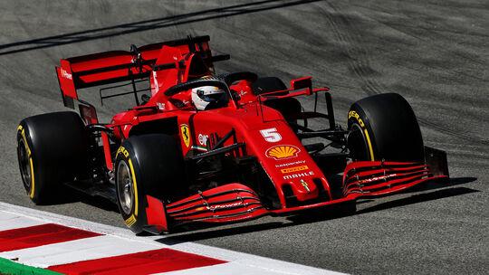 Sebastian Vettel - Ferrari - Formel 1 - GP Spanien - Barcelona - 14. August 2020