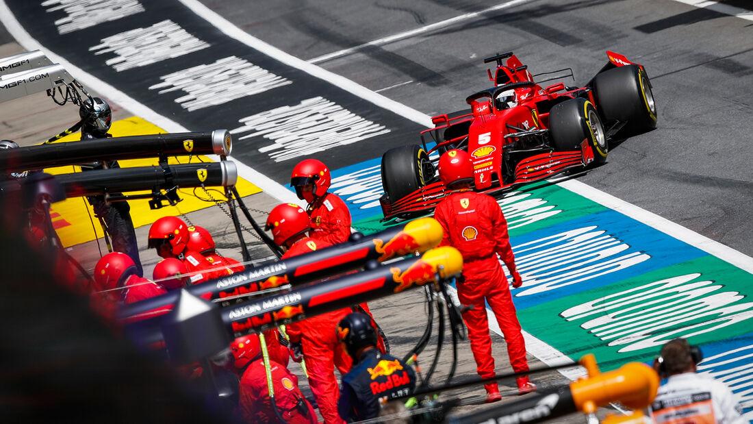 Sebastian Vettel - Ferrari - Formel 1 - GP Steiermark 2020 - Spielberg - Rennen