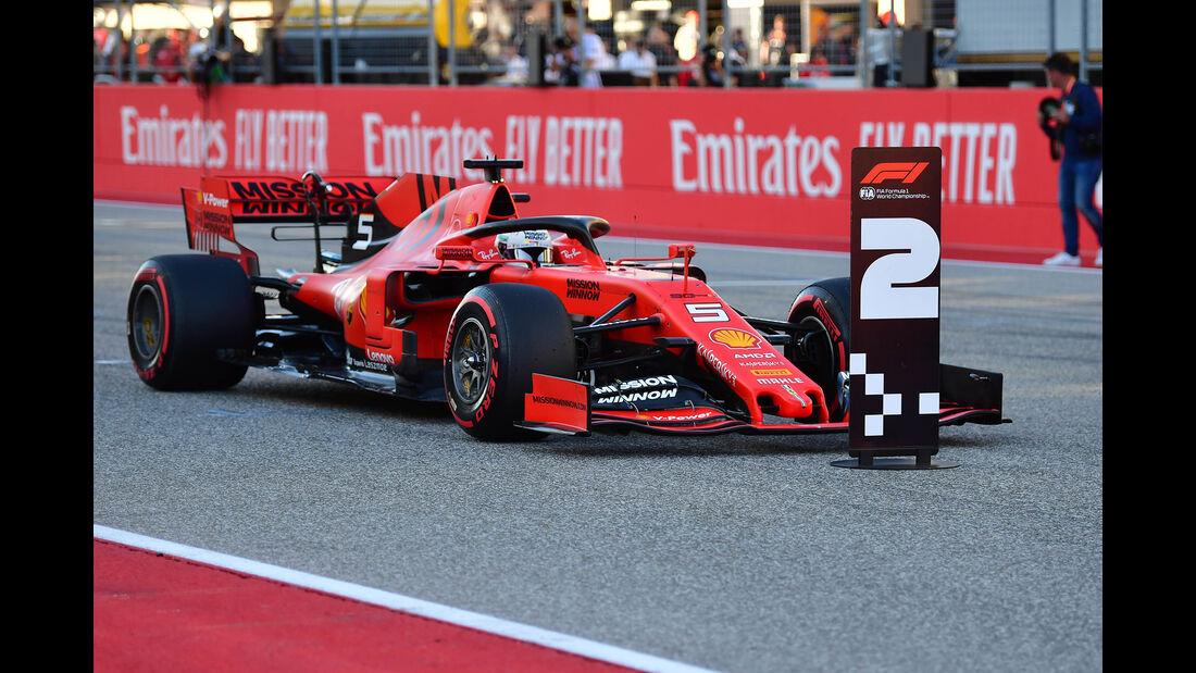 Sebastian Vettel - Ferrari  - Formel 1 - GP USA - Austin - 2. November 2019
