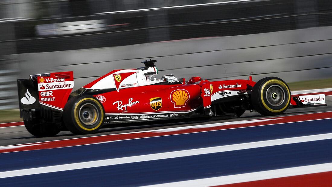 Sebastian Vettel - Ferrari - Formel 1 - GP USA - Austin - 21. Oktober 2016
