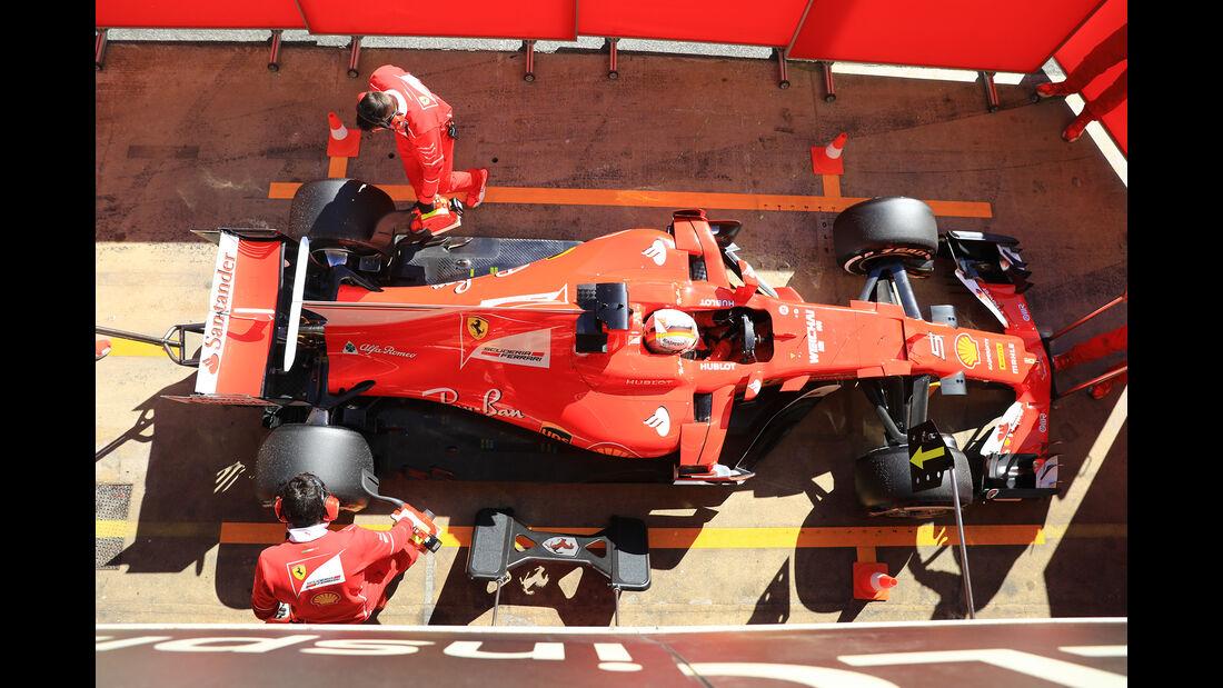 Sebastian Vettel - Ferrari - Formel 1 - Test - Barcelona - 1. März 2017