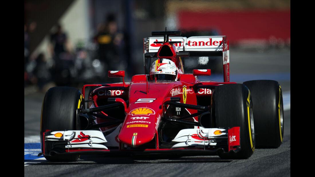 Sebastian Vettel - Ferrari - Formel 1-Test - Barcelona - 22. Februar 2015