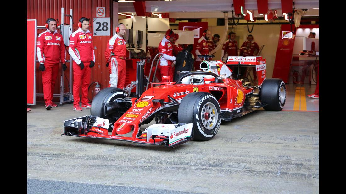 Sebastian Vettel - Ferrari - Formel 1-Test - Barcelona - 4. März 2016