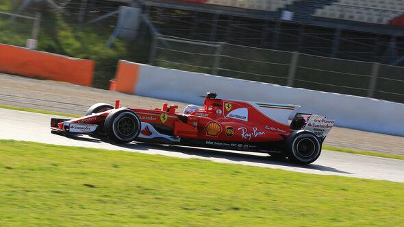 Sebastian Vettel - Ferrari - Formel 1 - Test - Barcelona - 9. März 2017