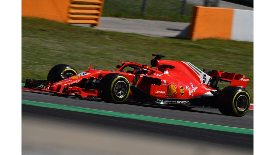 Sebastian Vettel - Ferrari - Formel 1 - Testfahrten - Barcelona - Dienstag - 15-5-2018