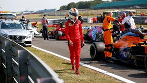 Sebastian Vettel - Ferrari - GP 70 Jahre F1 - Silverstone
