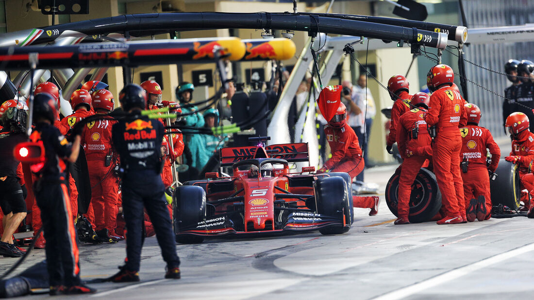 Sebastian Vettel - Ferrari - GP Abu Dhabi 2019 - Rennen