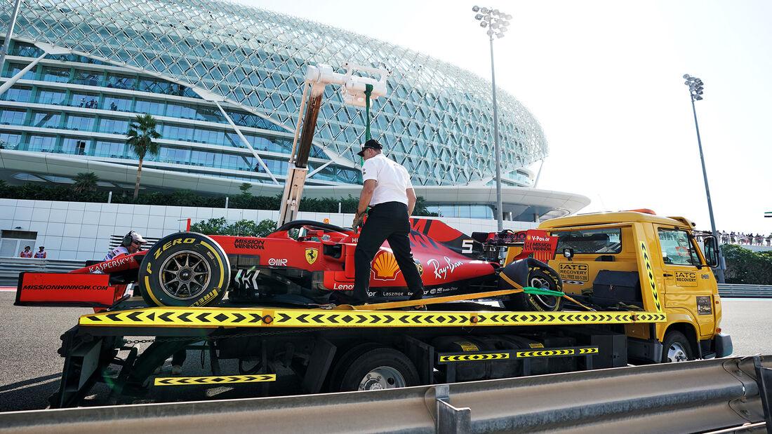 Sebastian Vettel - Ferrari - GP Abu Dhabi - Formel 1 - Freitag - 29.11.2019
