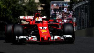 Sebastian Vettel - Ferrari - GP Aserbaidschan 2017 - 3. Training - Baku