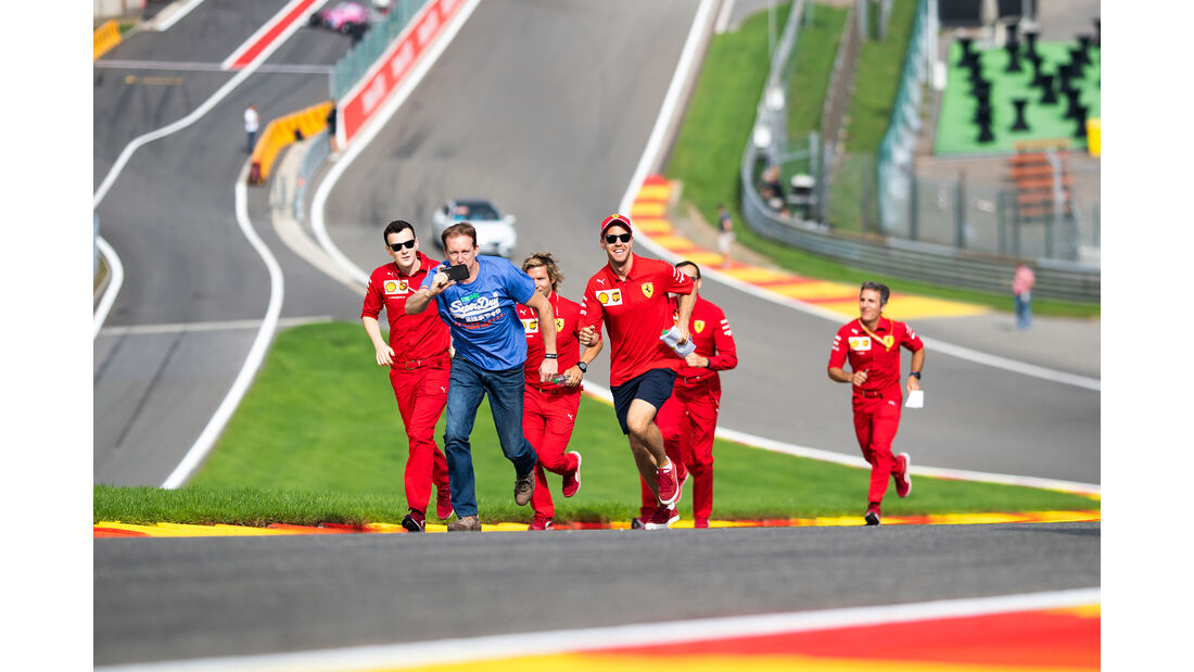 Sebastian Vettel - Ferrari - GP Belgien - Spa-Francorchamps - Formel 1 - Donnerstag - 29.8.2019