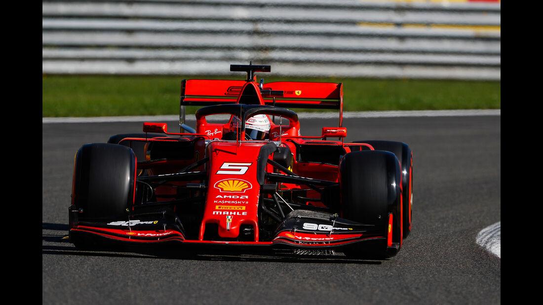 Sebastian Vettel - Ferrari - GP Belgien - Spa-Francorchamps - Formel 1 - Freitag - 30.08.2019