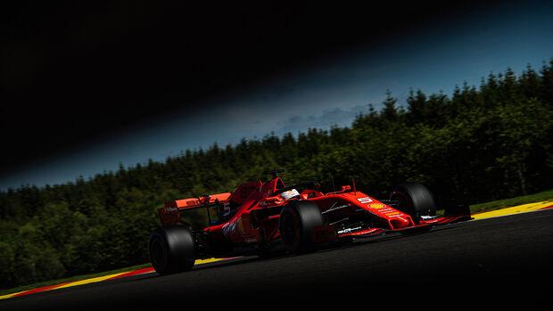 Sebastian Vettel - Ferrari - GP Belgien - Spa-Francorchamps - Formel 1 - Freitag - 30.8.2019