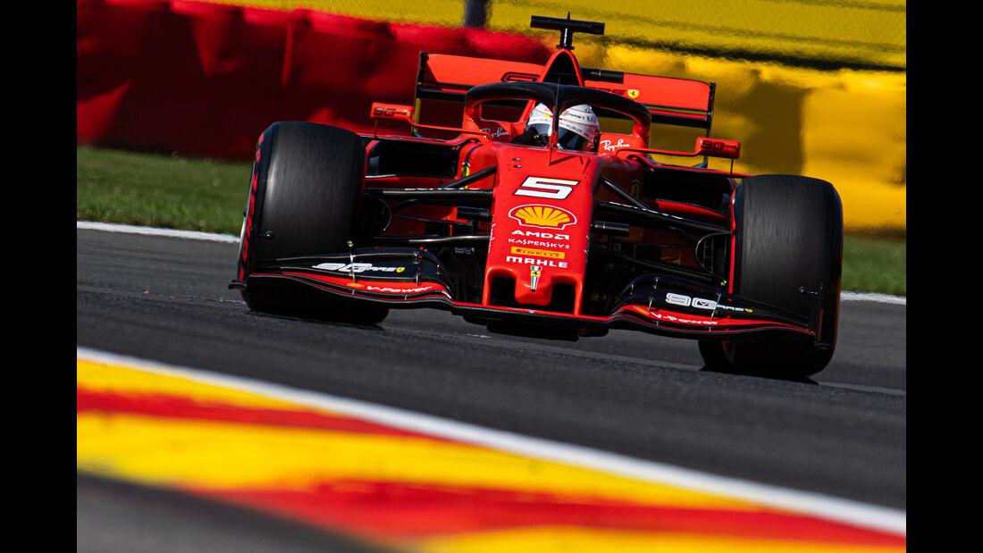 Sebastian Vettel - Ferrari - GP Belgien - Spa-Francorchamps - Formel 1 - Samstag - 31.8.2019