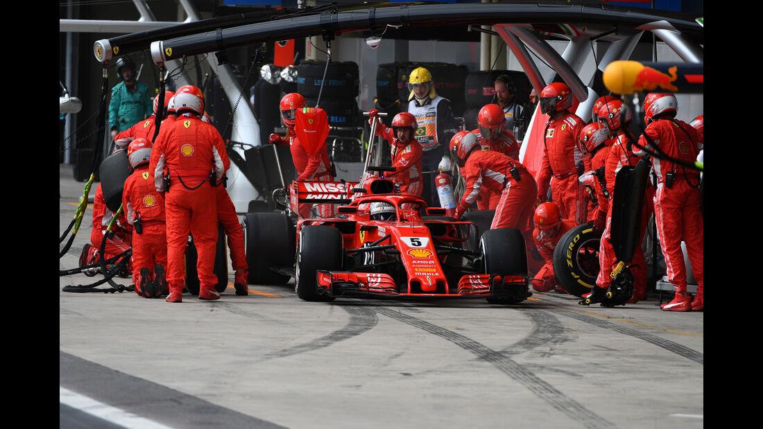 Sebastian Vettel - Ferrari - GP Brasilien 2018