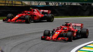 Sebastian Vettel - Ferrari - GP Brasilien - Interlagos - Formel 1 - Freitag - 9.11.2018
