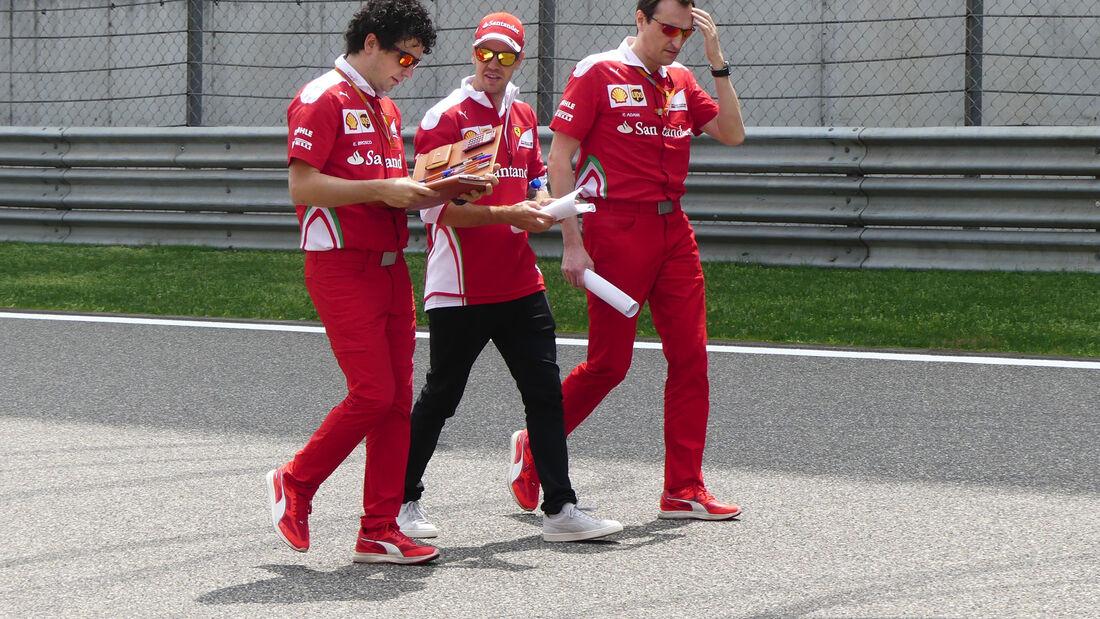 Sebastian Vettel - Ferrari - GP China - Shanghai - Donnerstag - 14.4.2016