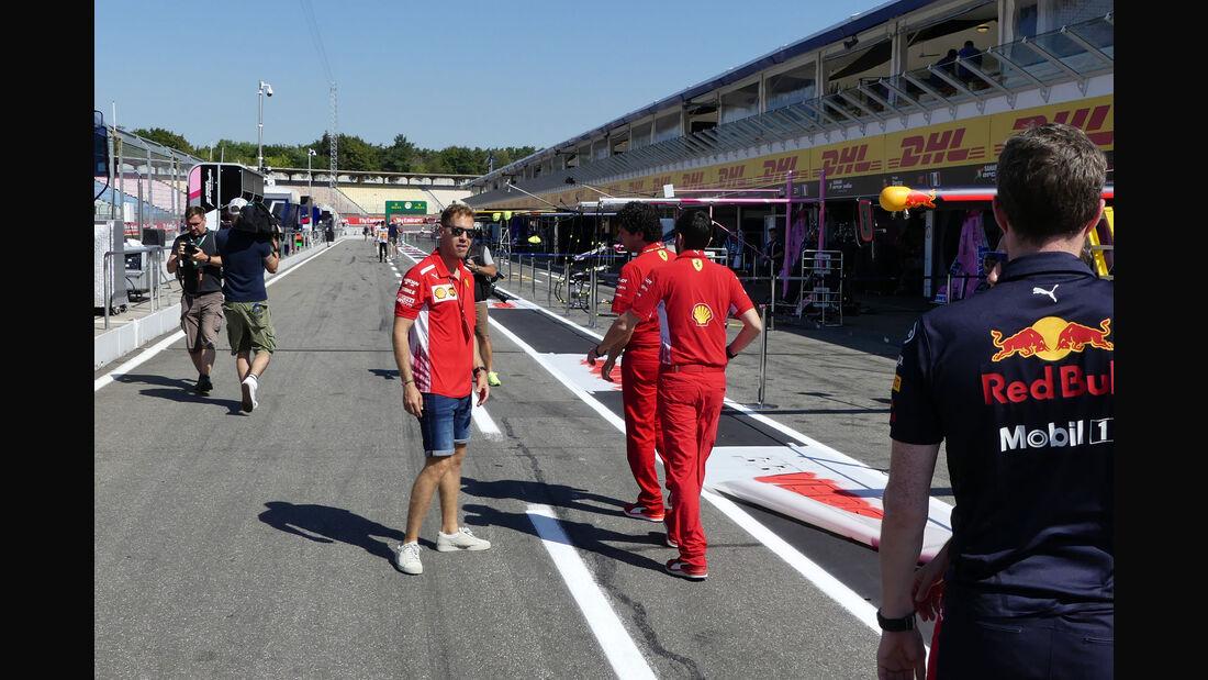 Sebastian Vettel - Ferrari - GP Deutschland - Hockenheim - Formel 1 - Donnerstag - 19.7.2018