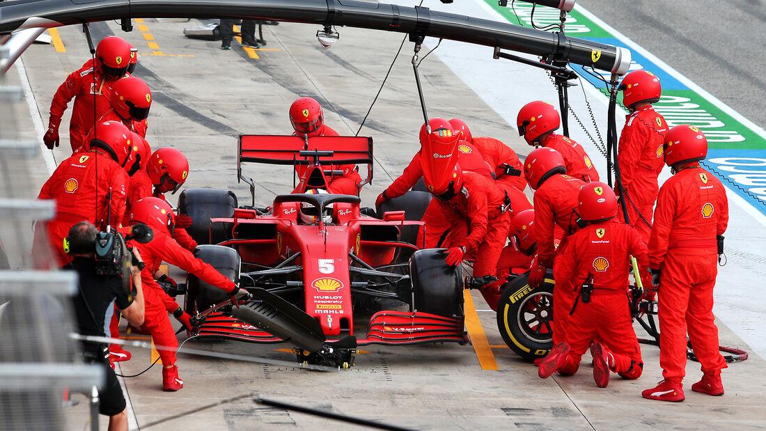 Sebastian Vettel - Ferrari - GP Emilia-Romagna 2020 - Imola - Rennen